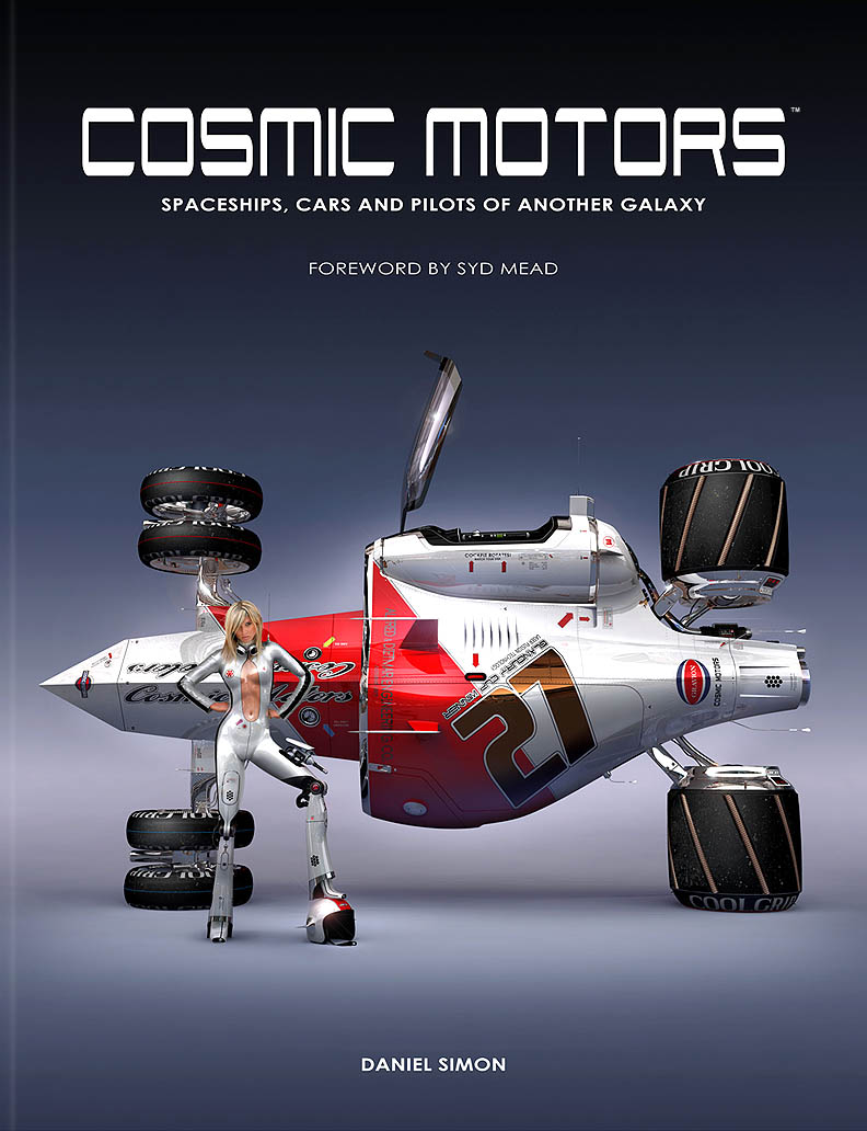 Book Cover Cosmic Motors, Copyright by Cosmic Motors LLC / Daniel Simon www.danielsimon.com